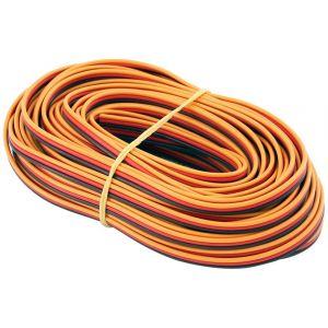 Robbe Cavo servi piatto 26awg-0,14mmq (marrone/rosso/arancio), 10 mt