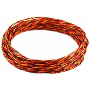 Robbe Cavo servi trecciato 22awg-0,35mmq (marrone/rosso/arancio) 10 mt