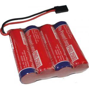 Robbe Batteria RX Ro-Power Loop 2500 mAh Nimh 4,8V spina JR in linea