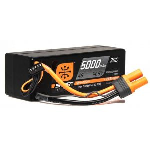 Spektrum Batteria Lipo 4S 5000mAh 30C HARDCASE Smart IC5