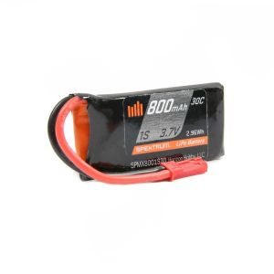 Spektrum 800mAh 1S 3.7V 30C LiPo Battery; JST - SPMX8001S30