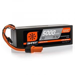 Spektrum Batteria Lipo 3S 5000mAh 100C HARDCASE Smart IC5