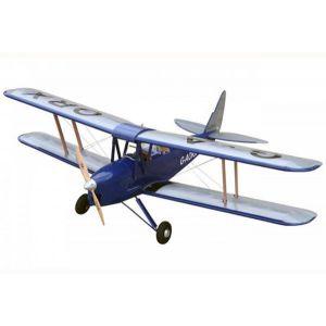 VQ Model Tiger Moth (blu) / 1400 mm Aeromodello riproduzione