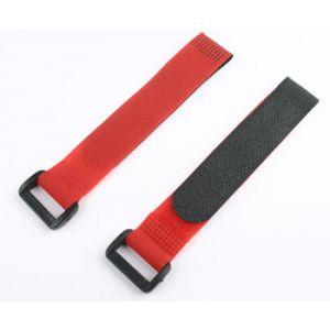 aXes Fascette velcro 20x200mm (2 pz) rosso