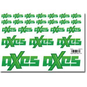 aXes Foglio decals 150x210 mm 24 loghi aXes