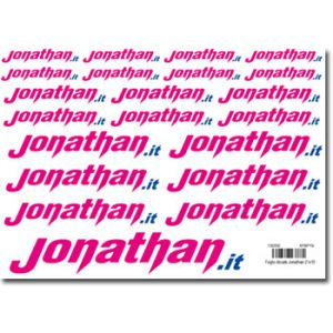 Jonathan Foglio decals 150x210 mm 21 loghi Jonathan