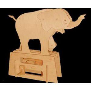 Jonathan Automata Flatbis Elephant in legno piatto da montare