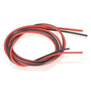 Robbe cavo siliconico rosso-nero 0,75 mm² AWG18 (1+1 mt)