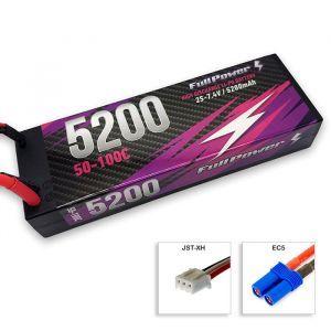 FullPower Batteria Lipo 2S 5200mAh 50C HARDCASE - EC5