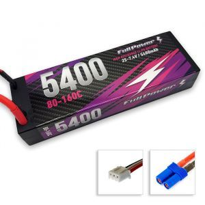 FullPower Batteria Lipo 2S 5400mAh 80C HARDCASE - EC5