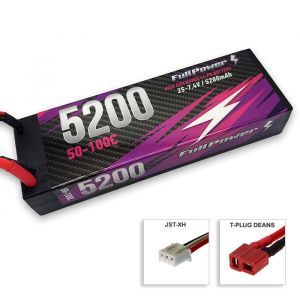 FullPower Batteria Lipo 2S 5200mAh 50C HARDCASE - DEANS