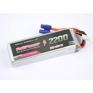 FullPower Batteria Lipo 3S 2200 mAh 35C Silver V2 - EC3