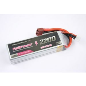 FullPower Batteria Lipo 2S 2200 mAh 35C Silver V2 - DEANS