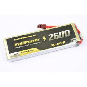 FullPower Batteria Lipo 6S 2600 mAh 50C Gold V2 - DEANS