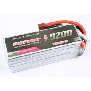 FullPower Batteria Lipo 2S 5200 mAh 35C Silver V2 - DEANS