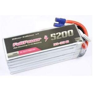 FullPower Batteria Lipo 6S 5200 mAh 35C Silver V2 - EC5