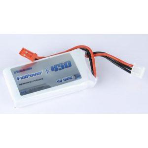 FullPower Batteria Lipo 2S 450 mAh 90C PLATINUM - BEC
