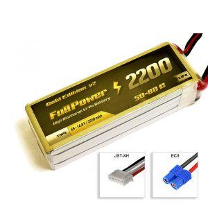 FullPower Batteria Lipo 4S 2200 mAh 50C Gold V2- EC3
