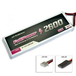 FullPower Batteria RX Lipo 2S 2600 mAh 35C V2 - JR