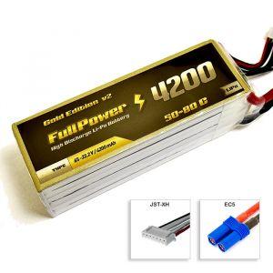 FullPower Batteria Lipo 6S 4200 mAh 50C Gold V2 - EC5