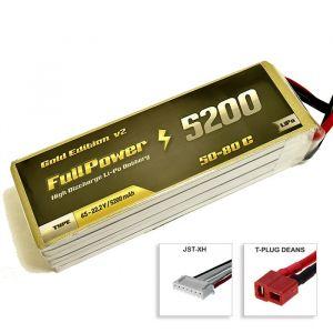 FullPower Batteria Lipo 6S 5200 mAh 50C Gold V2 - DEANS