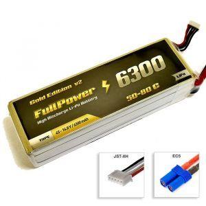 FullPower Batteria Lipo 4S 6300 mAh 50C Gold V2 - EC5