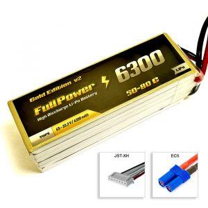 FullPower Batteria Lipo 6S 6300 mAh 50C Gold V2 - EC5