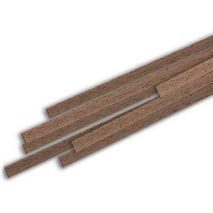 jWood Listello noce rettangolare 1,5x5x1000 mm