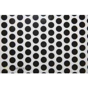 Oracover OraFUN1 bianco/nero pois 16mm, 2 mt.
