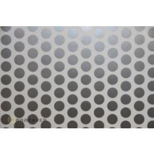 Oracover OraFUN1 bianco/argento pois 16mm, 2 mt.