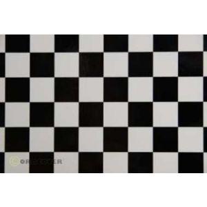 Oracover OraFUN3 bianco/nero scacchi 25x25mm, 2 mt.
