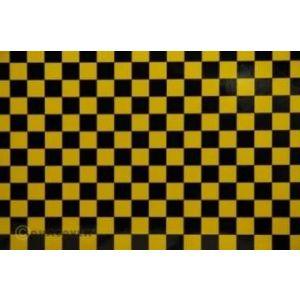 Oracover OraFUN4 giallo/nero scacchi 12,5x12,5mm, 2 mt.