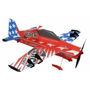 RC Factory Crack Laser PRO (rosso) / 755mm Aeromodello acrobatico
