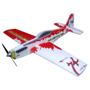 RC Factory Mustang (rosso) / 780 mm Aeromodello acrobatico