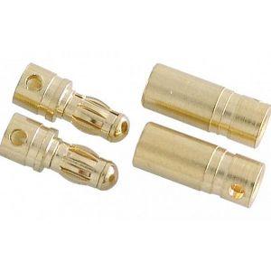 Robbe Connettore dorato da 3,5mm Maschio+Femmina 10 Coppie
