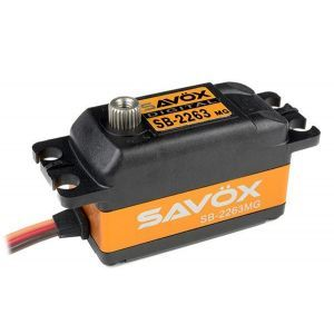 SAVOX SB-2263MG - 10,0 (6,0V)-0,08 (6,0V) Servocomando ribassato